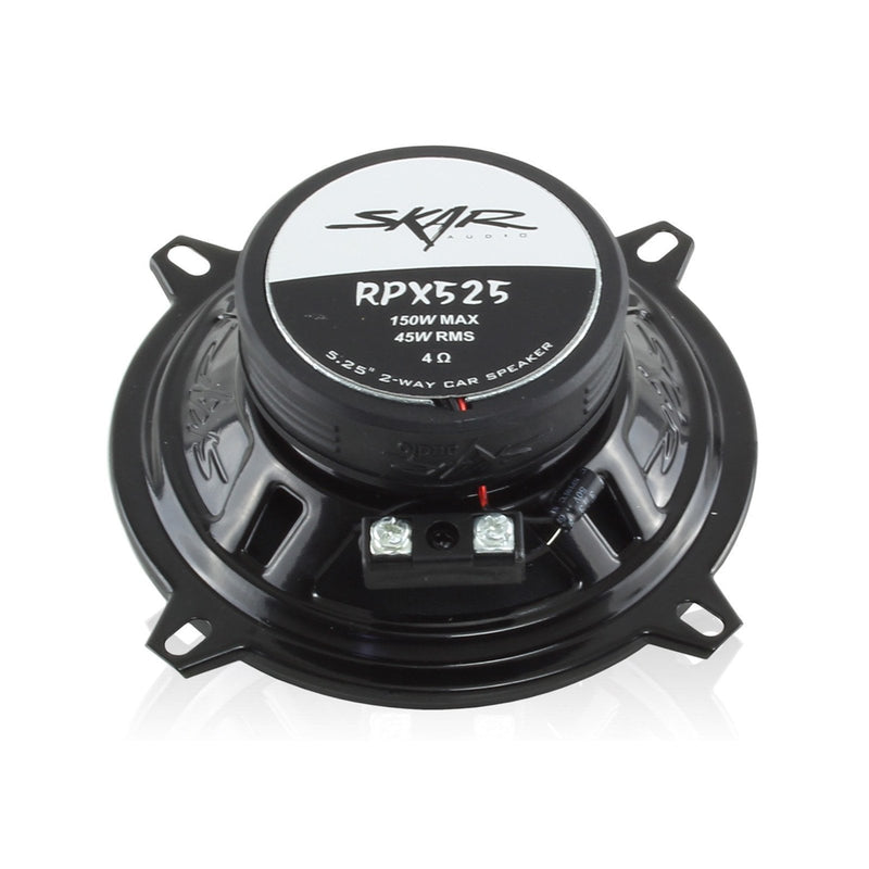 Skar Audio RPX525 5.25-inch 150 Watt Max Power Coaxial Car Speakers - Rear View