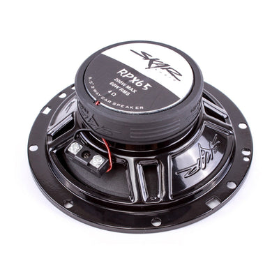 Skar Audio RPX65 6.5-inch 200 Watt Max Power Coaxial Car Speakers - Rear View