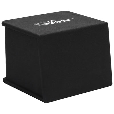 "Skar Audio SDR-1X10D2 Single 10"" SDR Loaded Vented Subwoofer Enclosure - Rear Angle View"
