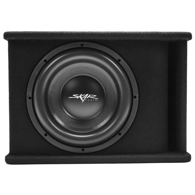"Skar Audio Single SDR 12"" 1200 Watt Loaded Sub Box and Amplifier - Front View"
