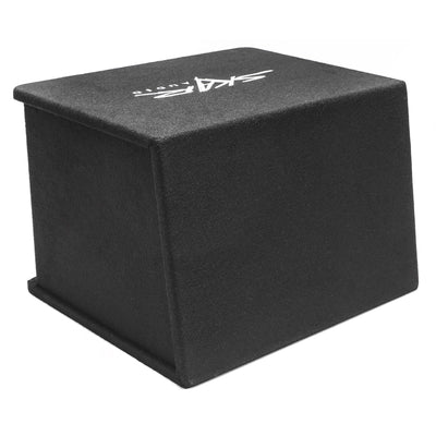 "Skar Audio Single SDR 12"" 1200 Watt Loaded Sub Box and Amplifier - Rear View"