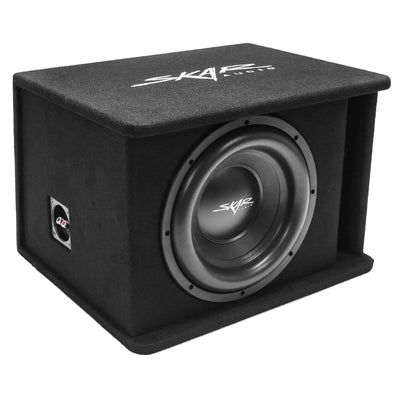 "Skar Audio SDR-1X12D2 Single 12"" SDR Loaded Vented Subwoofer Enclosure - Angle View"