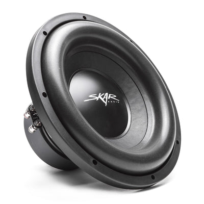 "Skar Audio Single SDR 12"" 1200 Watt Loaded Sub Box and Amplifier - Subwoofer View"