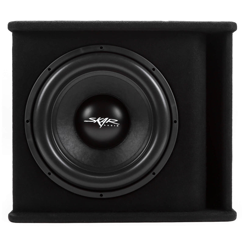 "Skar Audio Single SDR 15"" 1200 Watt Loaded Sub Box and Amplifier - Front View"