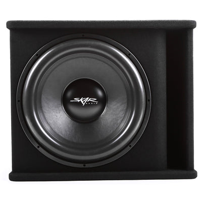 "Skar Audio Single SDR 18"" 1200 Watt Loaded Sub Box and Amplifier - Front View"