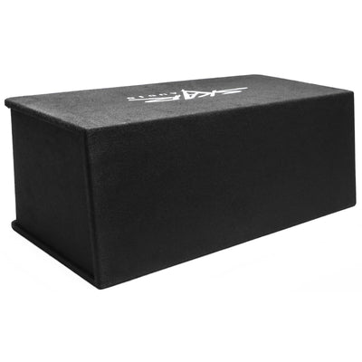"Skar Audio Dual SDR 12"" 2400 Watt Loaded Sub Box and Amplifier - Rear View"