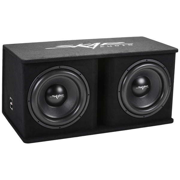 "Skar Audio SDR-2X15D4 Dual 15"" SDR Loaded Vented Subwoofer Enclosure - Front Angle View"