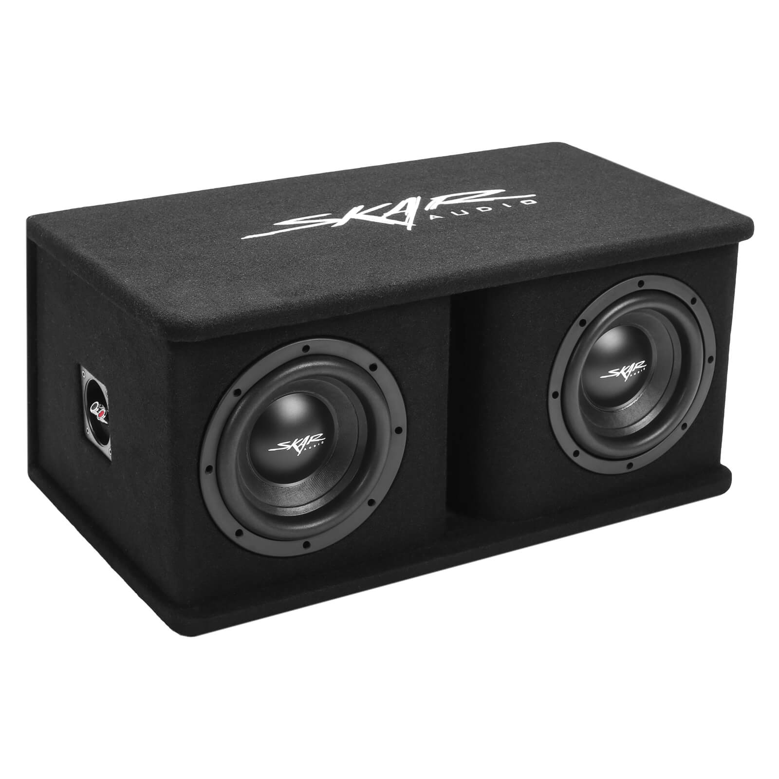 Skar Audio SDR-2X8D4 Dual 8-inch SDR Series Ported Loaded Subwoofer Enclosure - Main Image