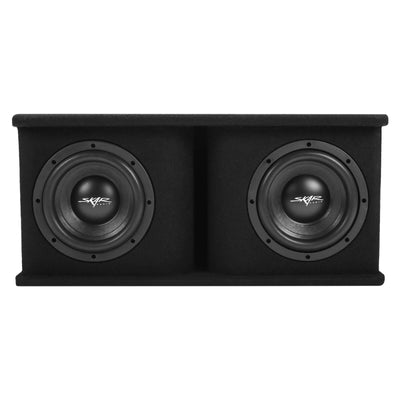 Skar Audio SDR-2X8D4 Dual 8-inch SDR Series Ported Loaded Subwoofer Enclosure - Front Image