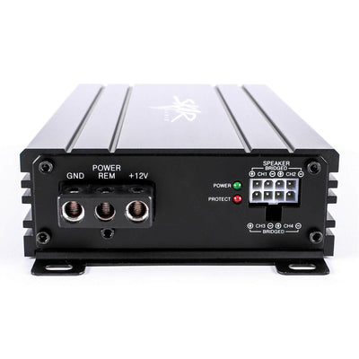 Skar Audio SK-M4004D 400 Watt Class D 4-Channel Car Amplifier - Inputs View