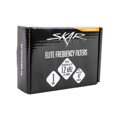 Skar Audio Elite Frequency Filters | Eliminates Frequencies 0-1.2 kHz at 4 Ohms - Pair