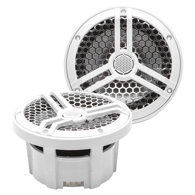 "Skar Audio SK65M 6.5"" 2-Way Marine Full Range 320 Watt Coaxial Speakers, Pair (White) - Main Image"