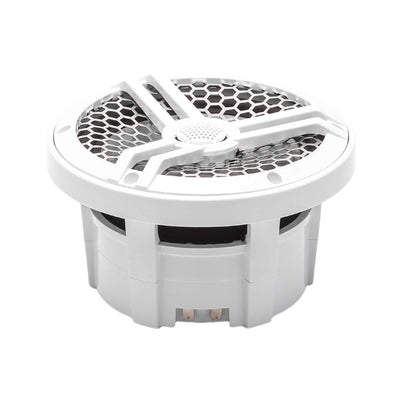 "Skar Audio SK65M 6.5"" 2-Way Marine Full Range 320 Watt Coaxial Speakers, Pair (White) - Angle Image"