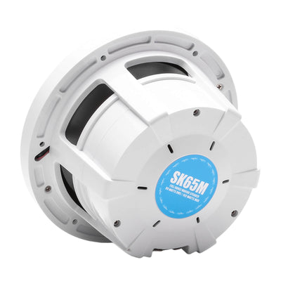 "Skar Audio SK65M 6.5"" 2-Way Marine Full Range 320 Watt Coaxial Speakers, Pair (White) - Rear Angle Image"
