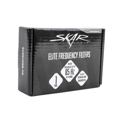 Skar Audio Elite Frequency Filters | Eliminates Frequencies 0-85 Hz at 4 Ohms - Pair