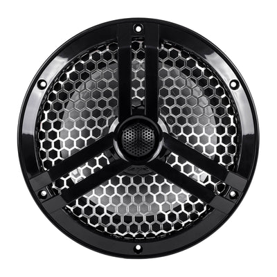 "Skar Audio SK8MB 8"" 2-Way Marine Full Range 500 Watt Coaxial Speakers, Pair (Black) - Front View Image"
