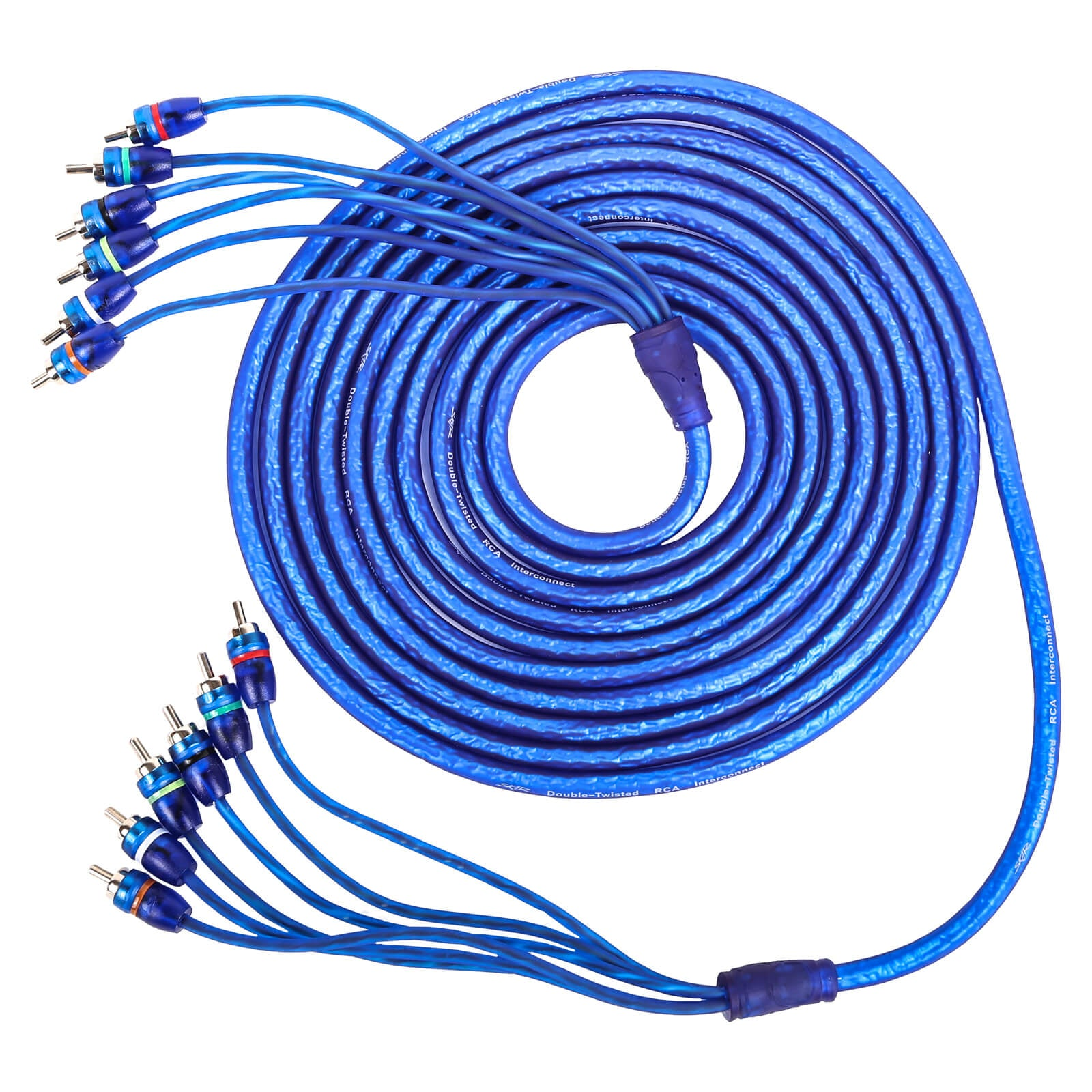 17 Ft 6-Channel Twisted Pair RCA Interconnect Cable (SKAR6CH-RCA17)