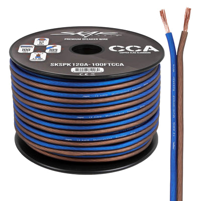 Skar Audio 12-Gauge CCA Speaker Wire (Blue/Brown) - Main Image