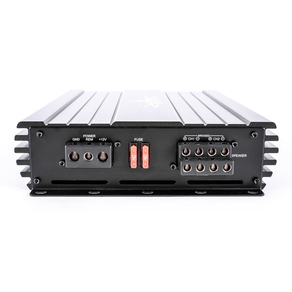 Skar Audio SKv2-200.4D 1,600 Watt Class D 4-Channel Car Amplifier - Inputs View