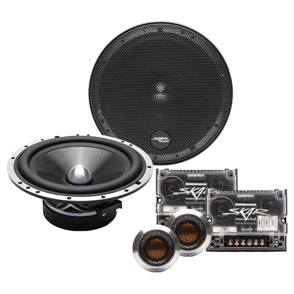 Skar Audio SPX-65C 6.5-inch 400 Watt Max Power Component Speaker System - Complete System View