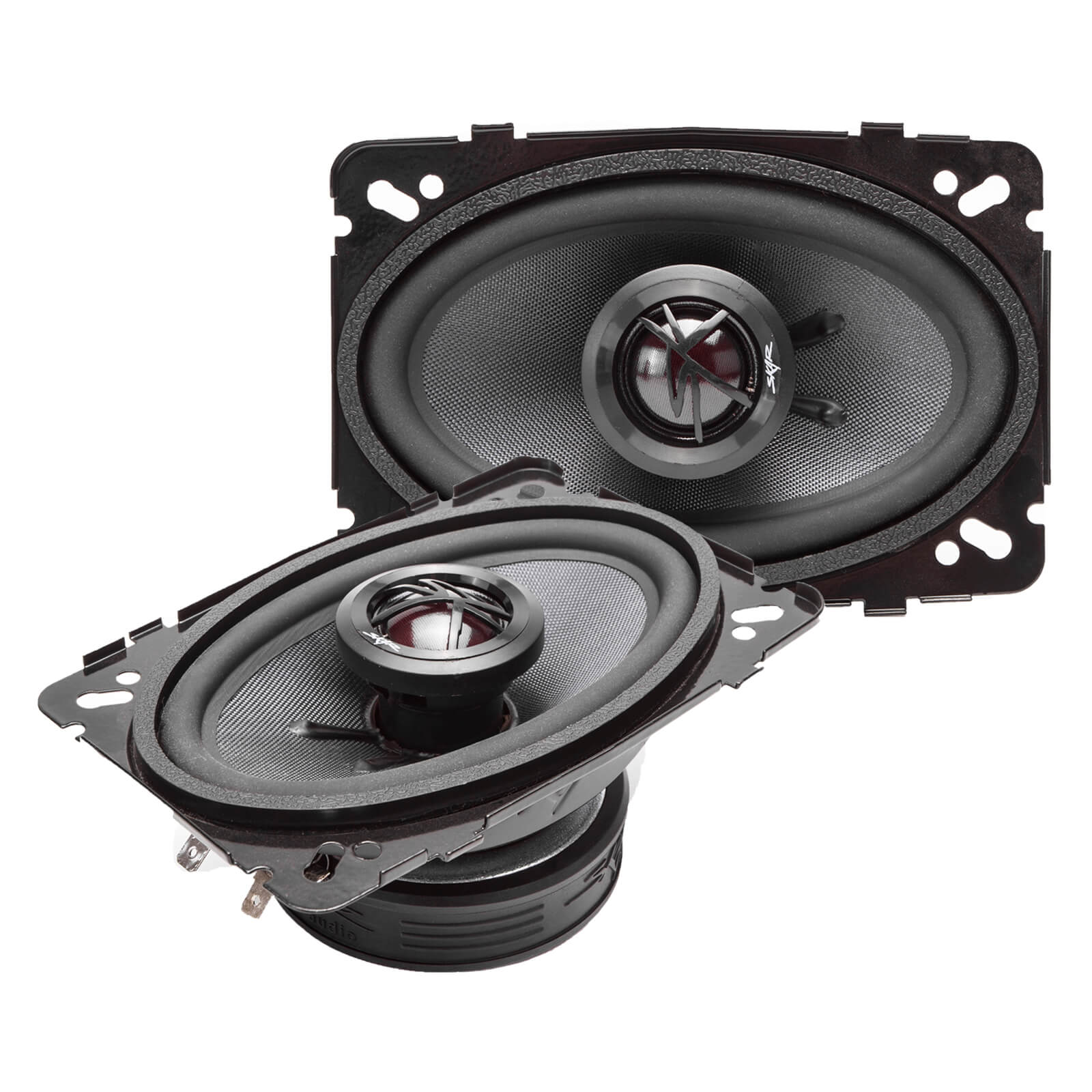Skar Audio TX46 4-inch x 6-inch 140 Watt Max Power Coaxial Car Speakers - Angle View