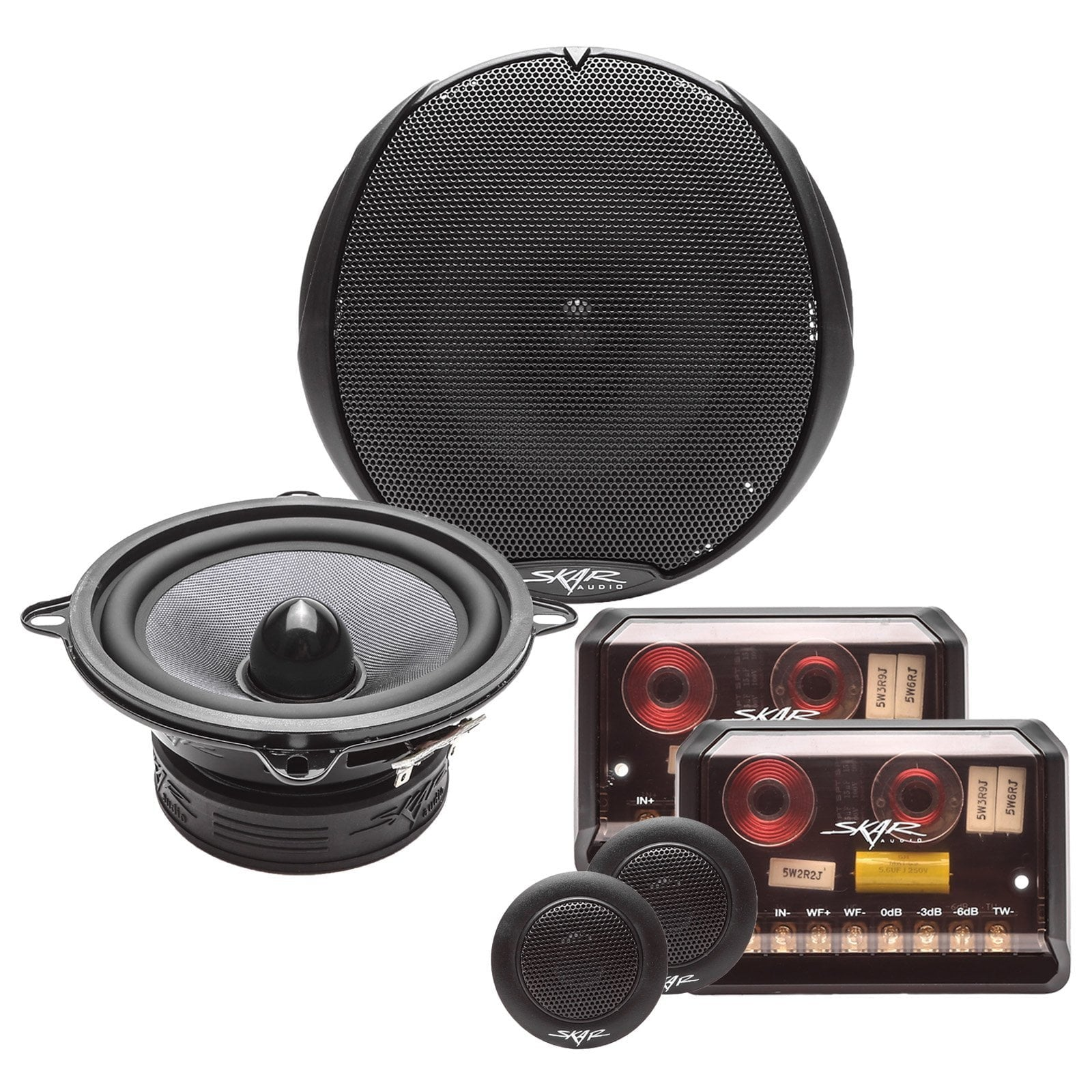 Skar Audio TX525C 5.25-inch 160 Watt Max Power Component Speaker System - Complete System View