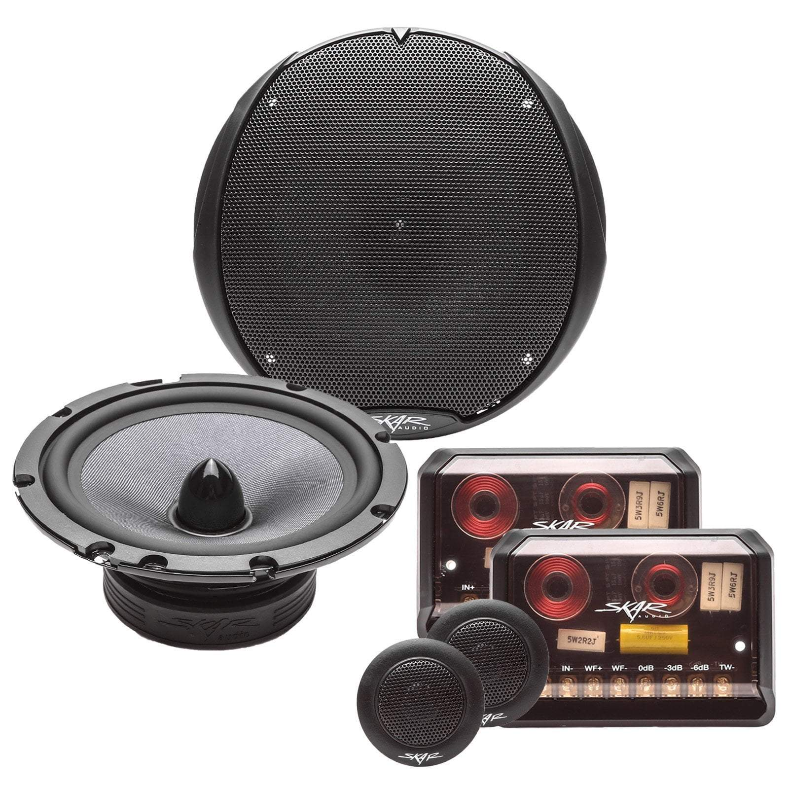 Skar Audio TX65C 6.5-inch 200 Watt Max Power Component Speaker System - Complete System View