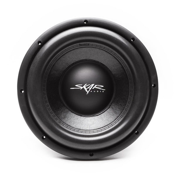 Skar Audio VD-10 10-inch Dual Voice Coil 800 Watt Max Power Shallow Mount Subwoofer - Front View