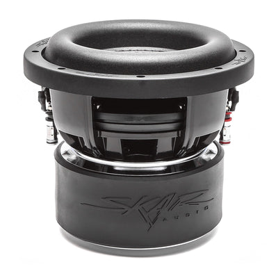 Skar Audio ZVX-8 8-inch 1,100 Watt Max Power Car Subwoofer - Side Angle View