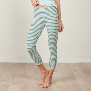 Faceplant Bamboo® Cotton Athleisure Striped Capri Legging