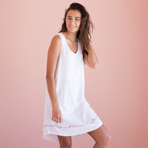 Wine a Little, Laugh a Lot - Cozy Collection Sleeveless Nightgown
