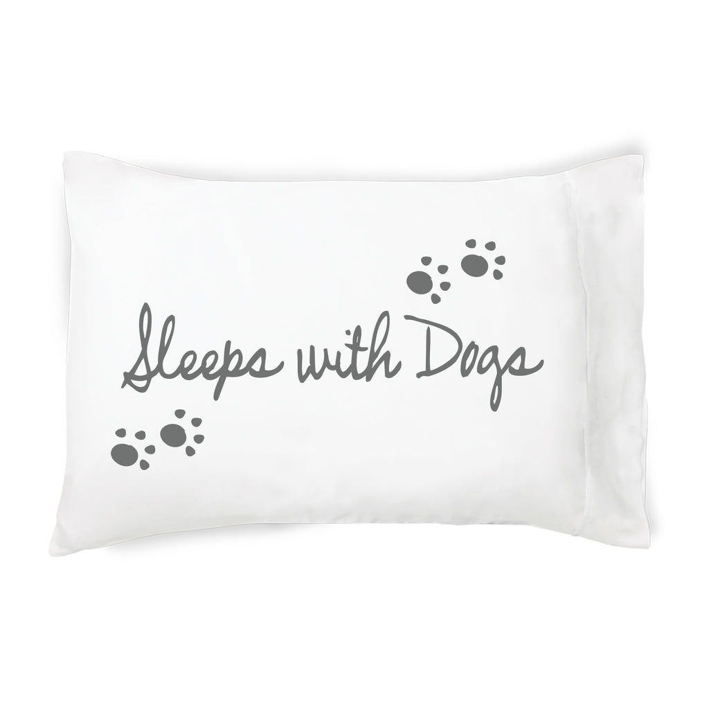 Sleeps With Dogs Quote Cotton Pillowcase Faceplant Dreams