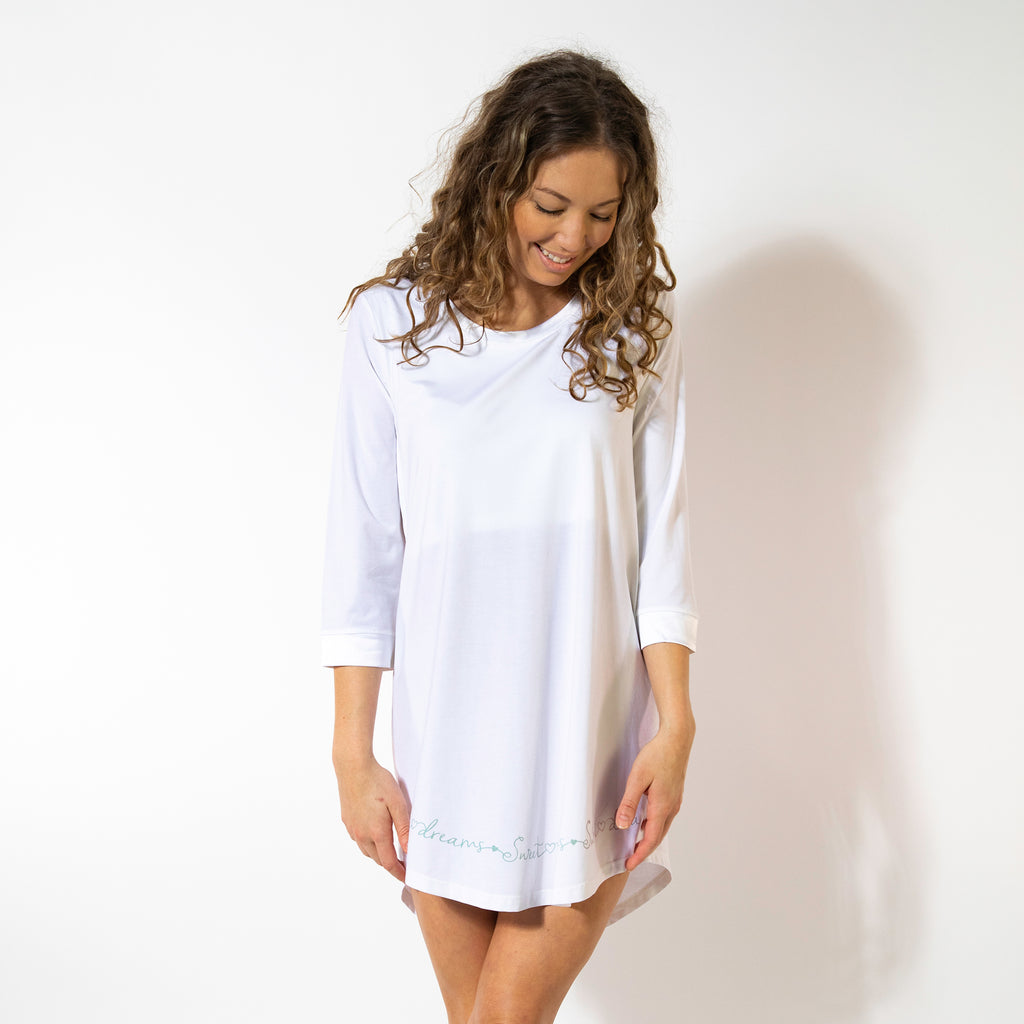 NEW Sweet Dreams - Cozy Collection 3 Qtr Sleeve Nightgown 19096dd5b