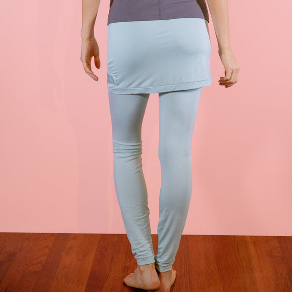 Faceplant Bamboo® Skort Leggings - Aqua