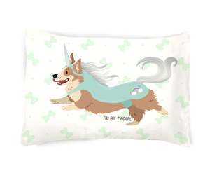 You Are Magical- Dog Unicorn Pillowcase