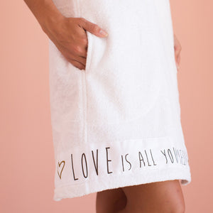 Love Is All You Need - Spa Wrap - Printing in Brown