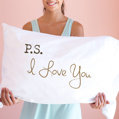 P.S. I Love You ~ Pillowcase