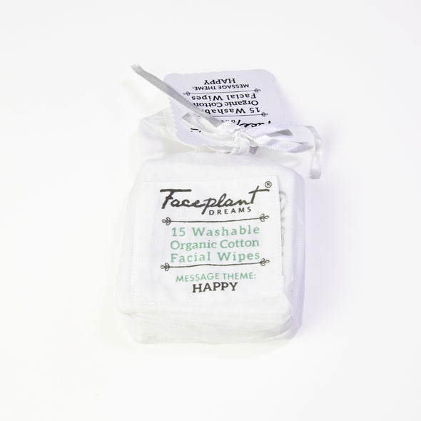 Happy Is The New Pretty - Organic Reusable Facial Wipes