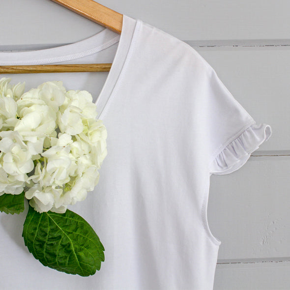 Dear Weekend I Love You Cotton Ruffle Tee