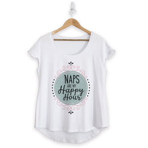 Naps Happy Hour Cotton Ruffle Tee