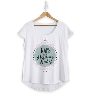 NEW - Naps Happy Hour Cotton Ruffle Tee