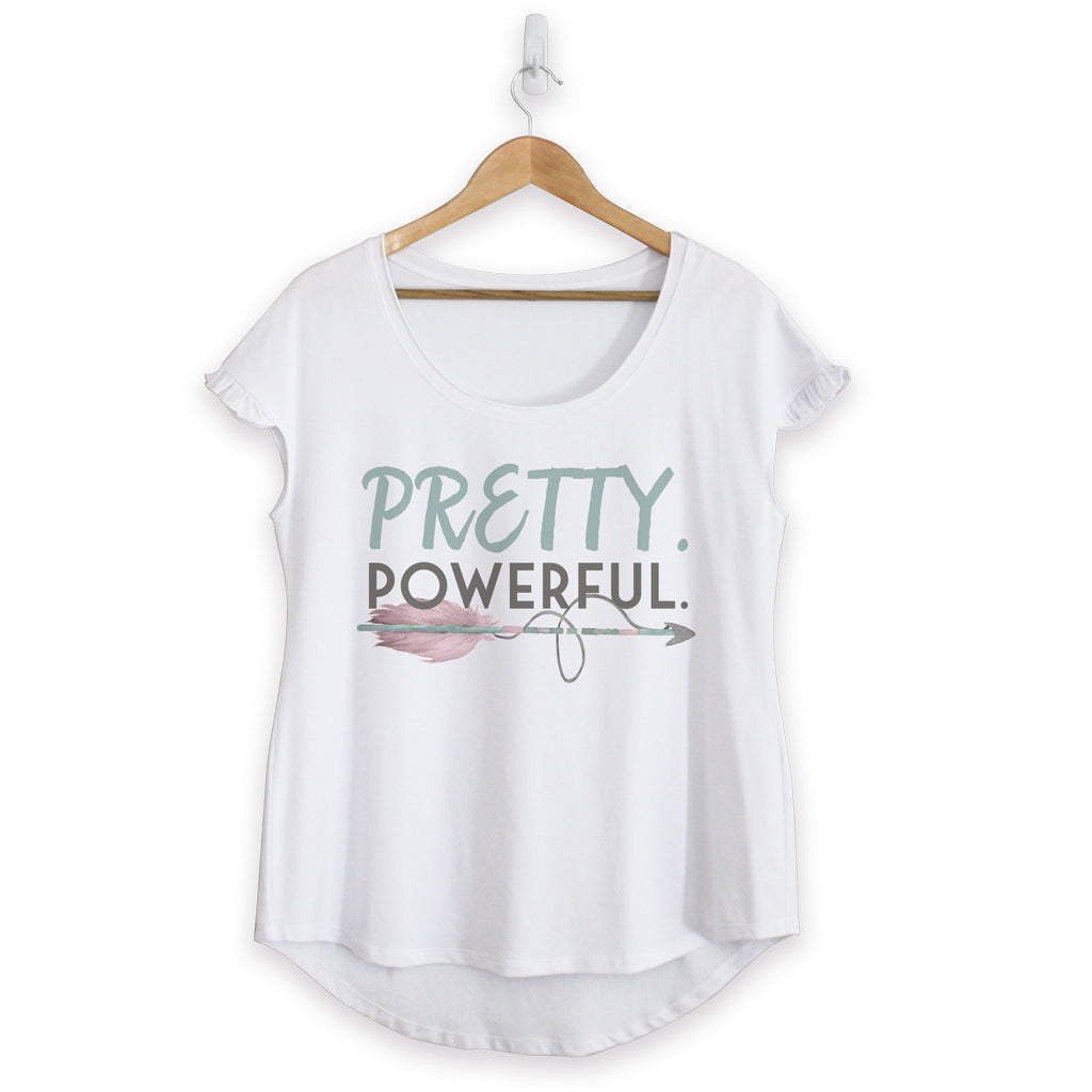 NEW - Pretty Powerful Cotton Ruffle Tee