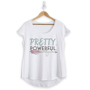 Pretty Powerful Cotton Ruffle Tee
