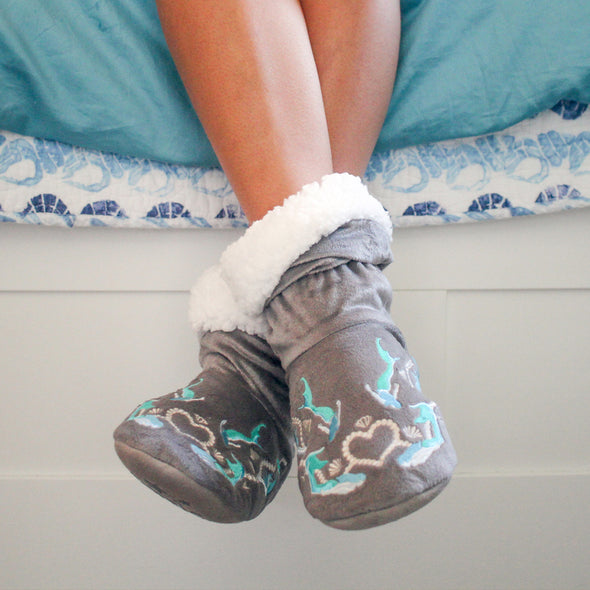 Mermazing Grey Bedroom Booties