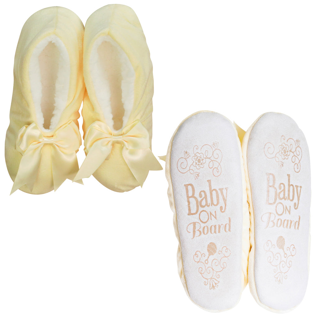 NEW - Baby on Board Bow Footsie