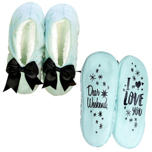 NEW - Dear Weekend I Love You Bow Footsie