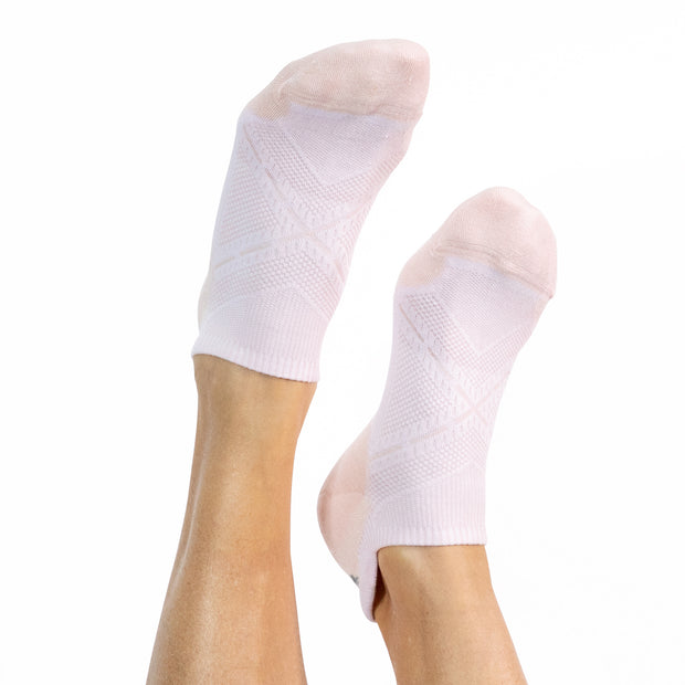 Faceplant Bamboo® Ankle Socks - White/Pink 1