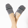 Faceplant Bamboo® No Show Socks - Earl Grey/Black