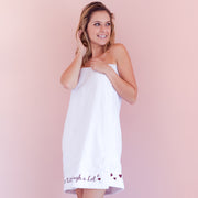 Wine a Little, Laugh a Lot Spa Wrap - NEW! Printing now in Burgundy