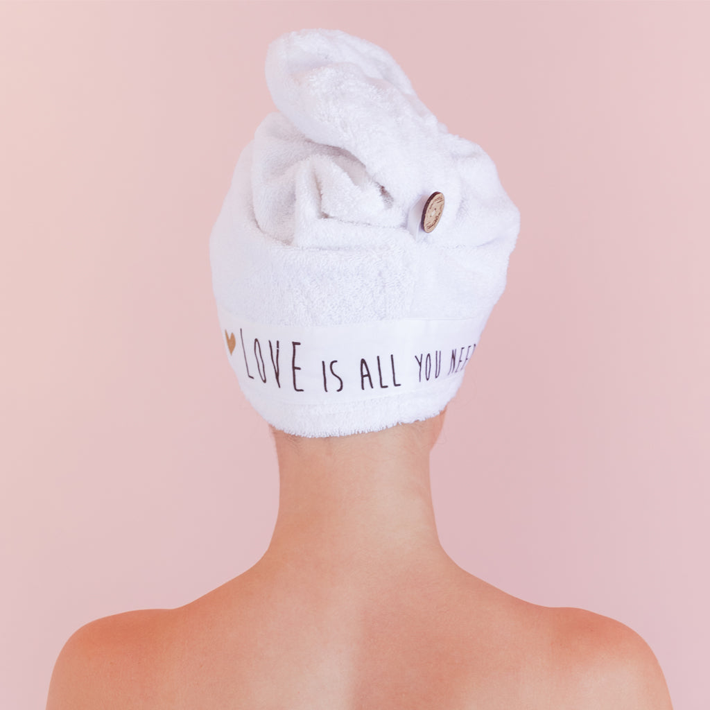 Love Is All You Need - Hair Towel Wrap